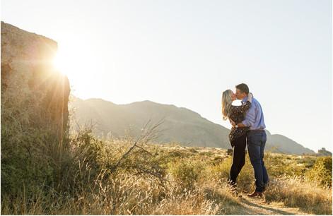 Sunset Engagement Photos in the Warm Glow of Arizona's Beautiful Desert