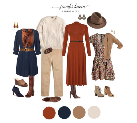 What to Wear in Family Photos - Autumn & Winter Color Schemes & Outfit Ideas for the Whole Family