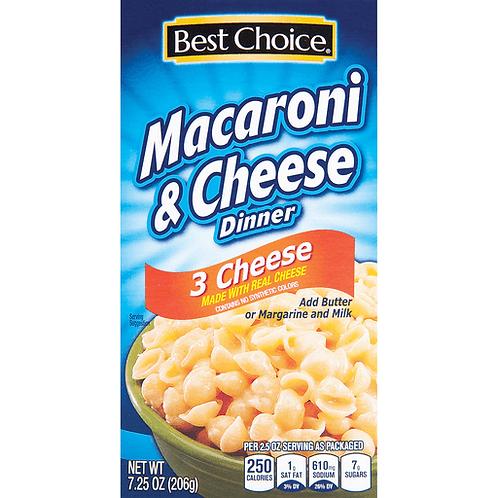 BC 3 CHEESE MAC & CHEESE DINNER 7.25 OZ