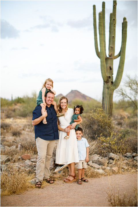 Family Sunset photos in the Scottsdale desert with This Cute Party of Five