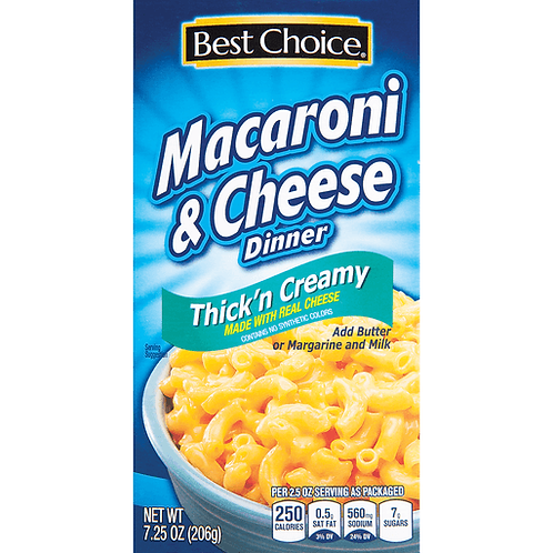 BC THICK'N CREAMY MAC & CHEESE DINNER 7.25 OZ