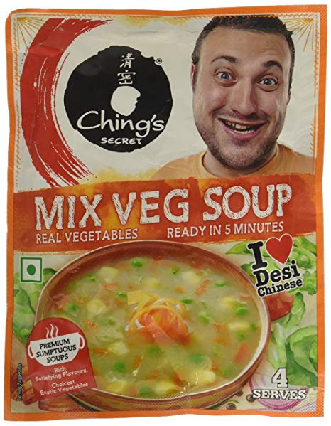 CHINGS MIX VEGETABLE SOUP 55G