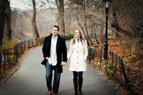 new york city engagement session photos