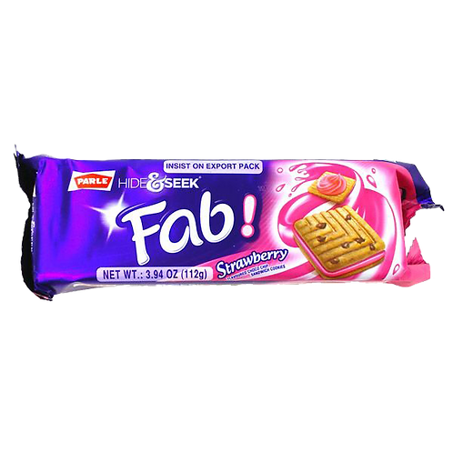 PARLE HIDE & SEEK FAB STRAWBERRY 112 GM*