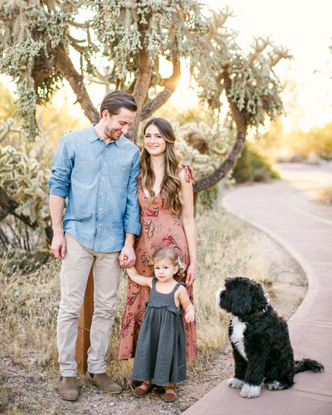 Beautiful desert sunset photos with the Emerson family in Scottsdale
