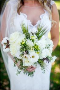 pretty white bouquet for a bride