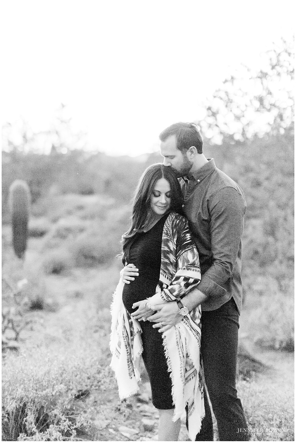Romantic maternity session in Scottsdale