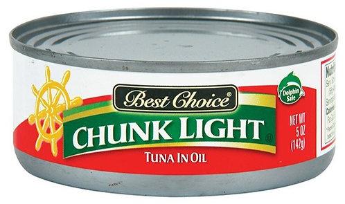 BC BST-CH CHUNK LIGHT TUNA/OIL 5 OZ