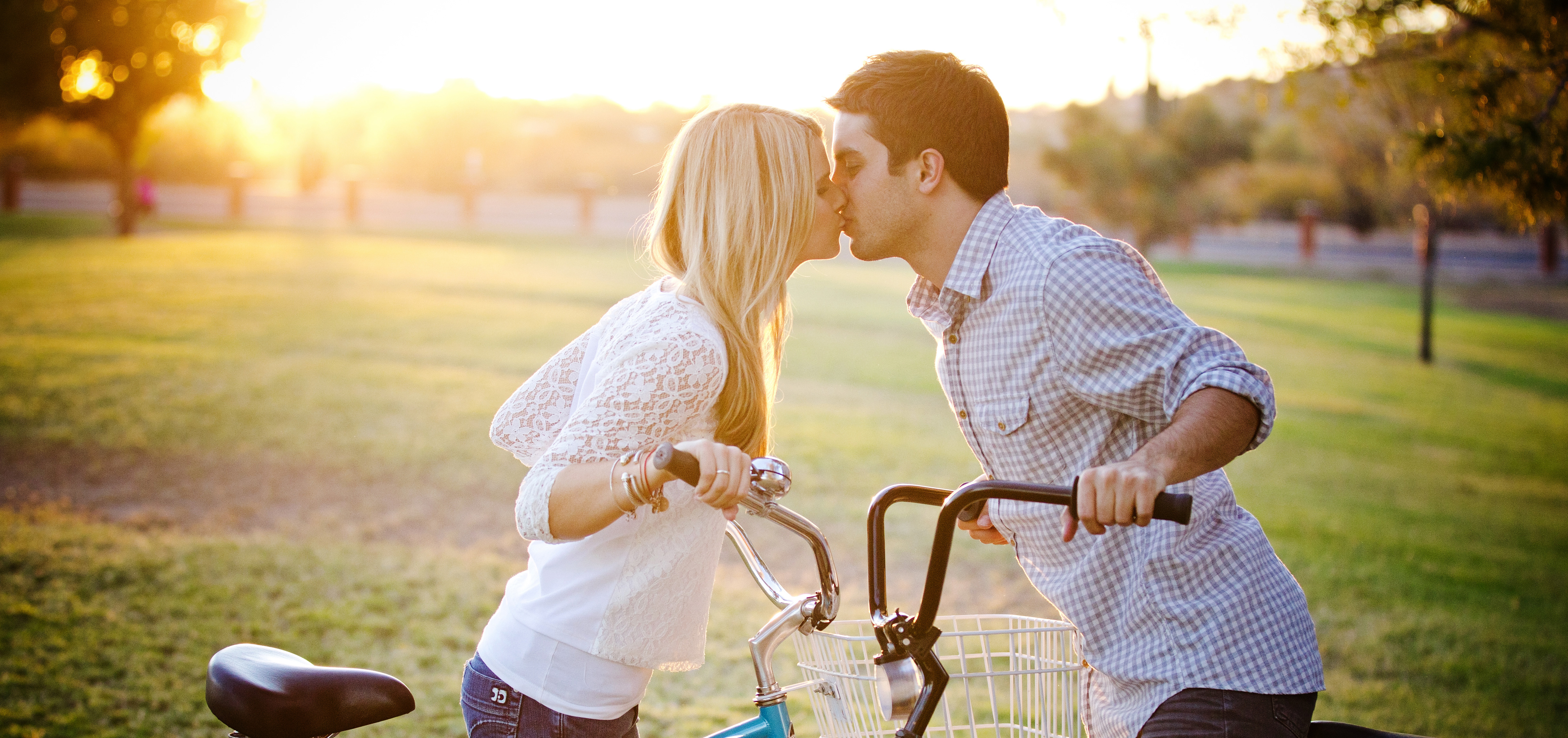 Fun engagement session with bikes