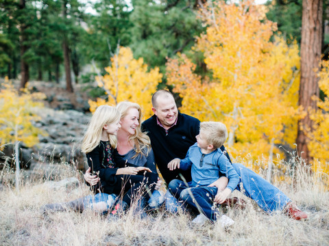 Family photography in the Flagstaff mountains at fall
