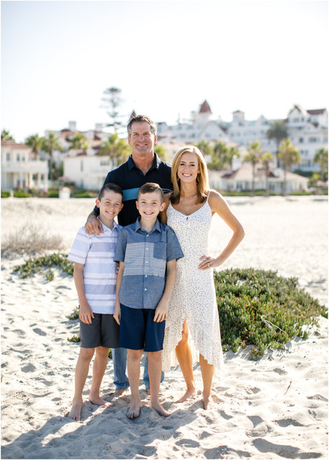 Carlson Family Beach Portraits at The Del in San Diego