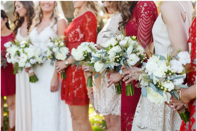 red bridesmaid dresses, mixed red dress for wedding