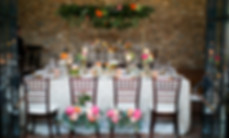 Beautiful head table from Silverleaf Club luxury Wedding