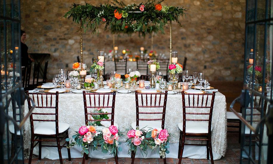 Beautiful head table from Silverleaf Club luxury Wedding