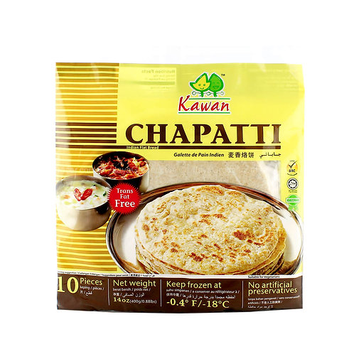 KAWAN CHAPATI PLAIN 10PC 400GM