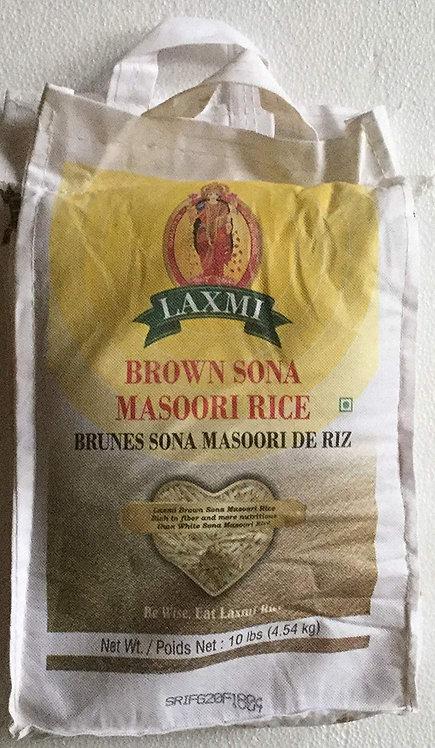 LAXMI BROWN SONA MASOORI RICE 10LB