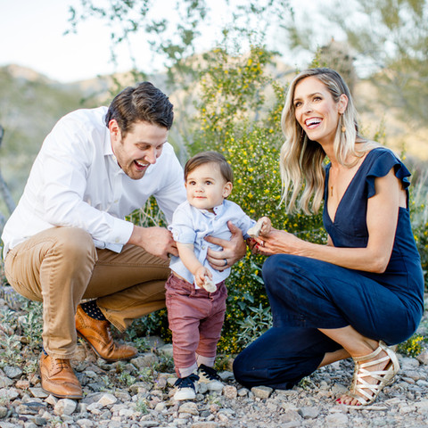 Cairns Family Portraits in the Blooming Desert