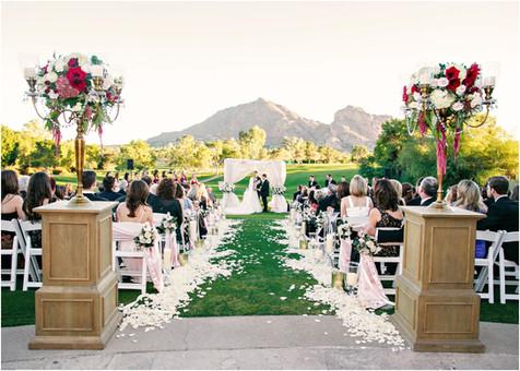 wedding photos, paradise valley country club, ceremony decor, scottsdale, arizona, wedding locations, country club weddings, bride and groom, jennifer bowen photographer, ceremony ideas