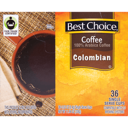 BC COLOMBIAN ROAST COFFEE 9.5GM X 36 CUPS