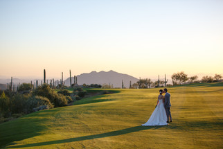 Desert wedding in Arizona with amazing views