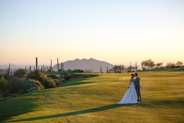 Desert wedding in Arizona with amazing views