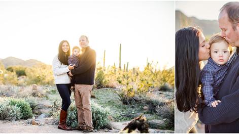 The Sweetest Sunrise: Family Portrait Session in the Scottsdale Desert at Sunrise
