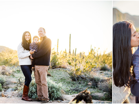 The Sweetest Sunrise: Family Portrait Session in the Scottsdale Desert at Sunrise