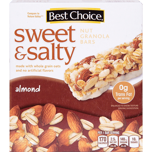 BC SWEET & SALTY ALMOND CHEWY  6 BARS