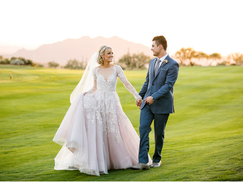 Jordan & Jake - Dreamy Arizona Wedding at Desert Mountain Chiracahua Clubhouse