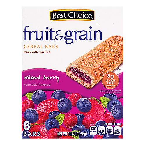 BC MIXED BERRY FRUIT AND GRAIN  8 BARS