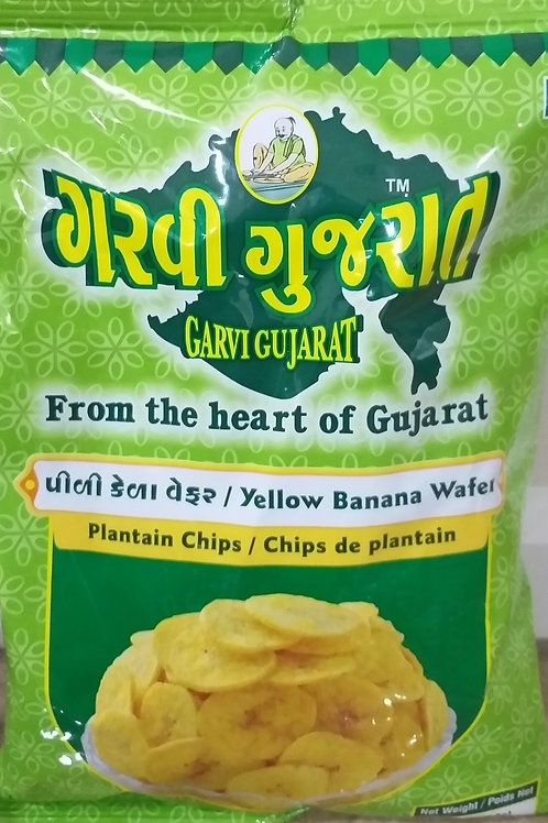 GARVI GUJARAT BANANA CHIPS YELLOW 180GM*