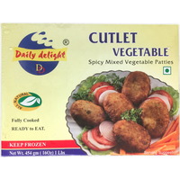 DAILY DELIGHT VEGETABLE CUTLET 454 GM