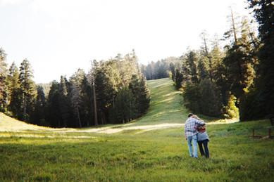 mountain engagement session photos