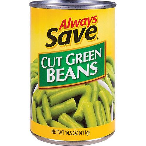 AS CUT GREEN BEANS 14 OZ