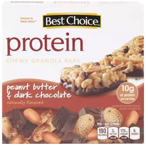 BC PEANUT BUTTER DARK CHOCOLATE CHEWY PROTEIN 5 BARS