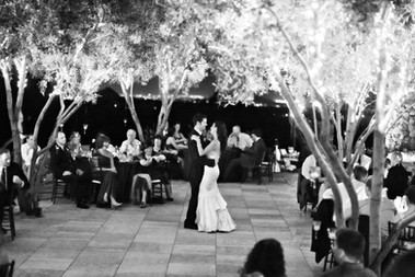 Bride & Groom first dance photo outside