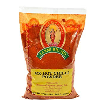 LAXMI  CHILI EXTRA HOT PWDR 800 GM 2PK