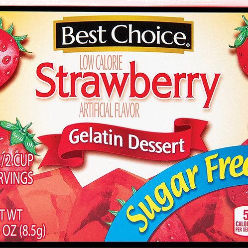 BC SUGAR FREE STRAWBERRY GELATIN 0.3OZ