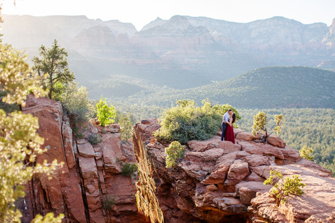 Sedona Engagement Photoshoot - Epic Red Rock Session with Genn & Teddy