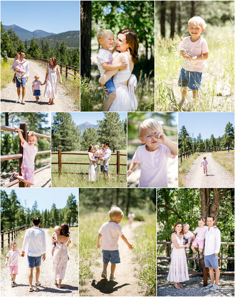 Summer in the Pines - Family portrait session in Flagstaff with the Dixon's