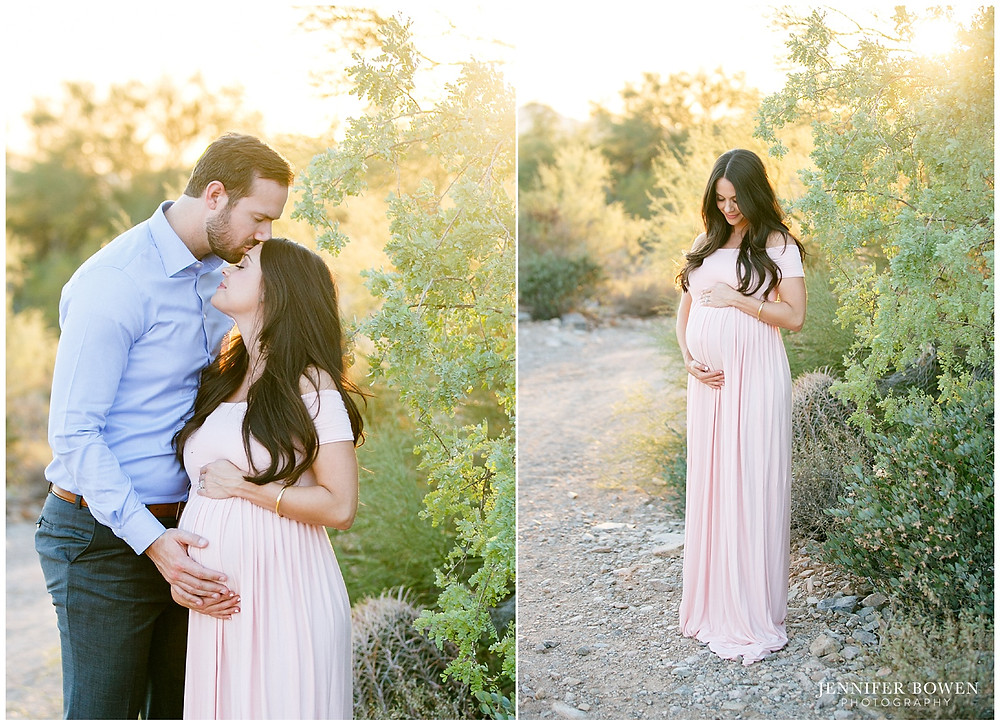 Beautiful desert maternity session in Arizona