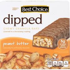 BC PEANUT BUTTER CHEWY DIPPED GRANOLA 6 BARS