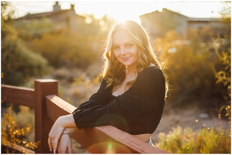 Three Tips for Getting Beautiful Senior Photos! AZ Sunset desert photoshoot with that golden glow