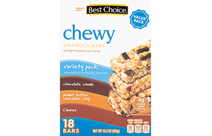 BC FAMILY SIZE CHEWY GRANOLA BARS VARIETY SINGLE BAR