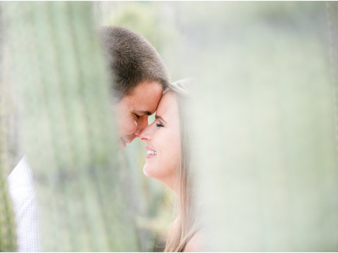 Leah & Chris - Desert Botanical Garden Engagement Session in Phoenix
