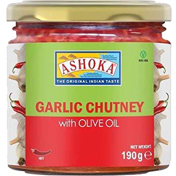 ASHOKA CHUTNEY GARLIC IN OLIVE OIL 6.7OZ