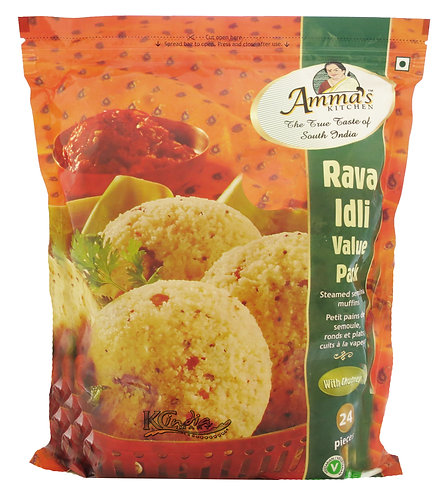 AMMA'S KITCHEN RAVA IDLI VALUE PACK 24 PCS 1040GM