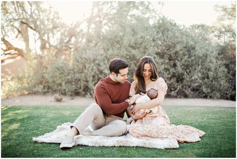 Lifestyle Newborn Family Portrait Session in Scottsdale AZ