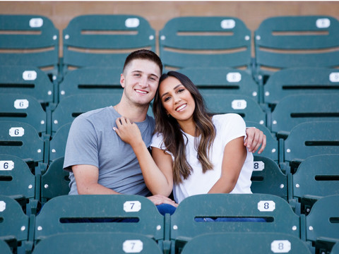 Christy & Ryan - Part 1 at Salt River Fields for their Baseball Field Engagement Session