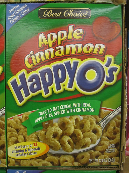 BC APPLE CINNAMON HAPPY O'S 12 OZ